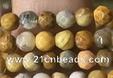 CTG1183 15.5 inches 3mm faceted round tiny fossil coral beads