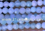 CTG1307 15.5 inches 2mm faceted round amazonite beads wholesale