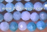 CTG1309 15.5 inches 4mm faceted round amazonite beads wholesale