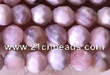 CTG1323 15.5 inches 4mm faceted round rhodochrosite beads wholesale