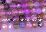 CTG1325 15.5 inches 2mm faceted round tourmaline beads wholesale