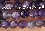 CTG1344 15.5 inches 4mm faceted round amethyst gemstone beads