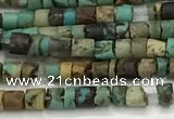 CTG1373 15.5 inches 2*2mm heishi tiny green turquoise beads