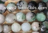CTG1388 15.5 inches 4mm faceted round tiny emerald beads