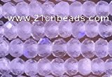 CTG1395 15.5 inches 2*3mm faceted rondelle tiny white moonstone beads