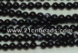 CTG143 15.5 inches 3mm round tiny blue goldstone beads wholesale