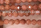 CTG1451 15.5 inches 2mm faceted round goldstone beads wholesale