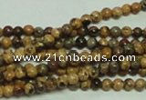 CTG147 15.5 inches 3mm round tiny leopard skin jasper beads wholesale