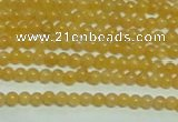 CTG148 15.5 inches 3mm round tiny yellow jade beads wholesale