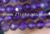 CTG1484 15.5 inches 3mm faceted round amethyst gemstone beads