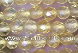 CTG1488 15.5 inches 3mm faceted round citrine gemstone beads