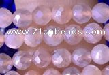 CTG1505 15.5 inches 3mm faceted round AB-color moonstone beads