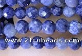 CTG1518 15.5 inches 3mm faceted round sapphire gemstone beads