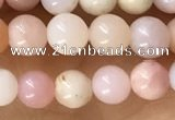 CTG1595 15.5 inches 4mm round pink opal beads wholesale