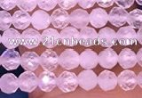CTG1600 15.5 inches 2.5mm faceted round tiny white moonstone beads