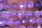 CTG1620 15.5 inches 4mm faceted round tiny labradorite beads