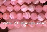 CTG1633 15.5 inches 3mm faceted round tiny rhodochrosite beads