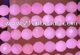 CTG1634 15.5 inches 2.5mm faceted round tiny pink opal beads