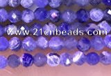 CTG1665 15.5 inches 2mm faceted round tiny sodalite beads