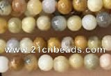 CTG2019 15 inches 2mm,3mm yellow crazy lace agate beads