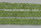 CTG206 15.5 inches 3mm faceted round tiny prehnite gemstone beads