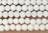 CTG2075 15 inches 2mm,3mm white porcelain beads wholesale