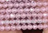 CTG2101 15 inches 2mm faceted round tiny quartz glass beads