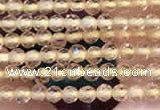CTG2114 15 inches 2mm faceted round tiny quartz glass beads