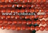 CTG2121 15 inches 2mm,3mm faceted round red agate gemstone beads