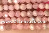 CTG2139 15 inches 2mm,3mm faceted round rhodochrosite gemstone beads