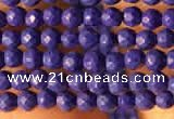 CTG2153 15 inches 2mm,3mm faceted round synthetic turquoise beads