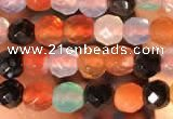 CTG2201 15 inches 2mm,3mm & 4mm faceted round agate gemstone beads