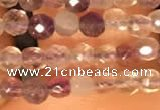 CTG2207 15 inches 2mm,3mm faceted round purple fluorite beads