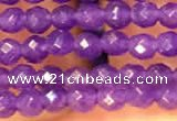 CTG2224 15 inches 2mm,3mm faceted round candy jade beads