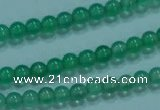 CTG24 15.5 inch 3mm round tiny pale green agate beads wholesale