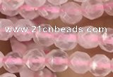 CTG2500 15.5 inches 4mm faceted round rose quartz beads
