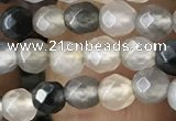 CTG2507 15.5 inches 4mm faceted round quartz beads wholesale