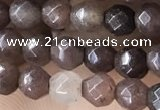 CTG2523 15.5 inches 4mm faceted round purple aventurine beads