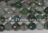 CTG301 15.5 inches 3mm faceted round ting moss agate beads