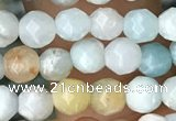 CTG3571 15.5 inches 4mm faceted round amazonite beads wholesale