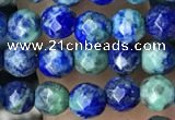 CTG3576 15.5 inches 4mm faceted round chrysocolla beads