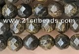 CTG3594 15.5 inches 4mm faceted round bronzite beads wholesale