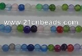 CTG436 15.5 inches 2mm round tiny dyed candy jade beads wholesale