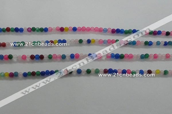 CTG438 15.5 inches 2mm round tiny dyed candy jade beads wholesale