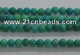 CTG440 15.5 inches 2mm round tiny natural turquoise beads wholesale