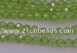 CTG500 15.5 inches 2mm faceted round tiny peridot gemstone beads