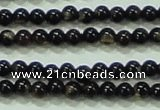 CTG51 15.5 inches 1.5mm round grade AB tiny black agate beads wholesale