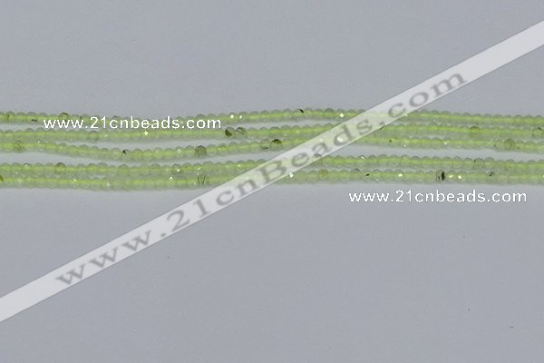CTG631 15.5 inches 2mm faceted round prehnite gemstone beads