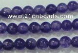 CTG65 15.5 inches 3mm round tiny dyed white jade beads wholesale