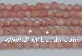 CTG654 15.5 inches 3mm faceted round Argentina rhodochrosite beads